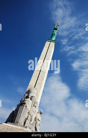 Latvia, Eastern Europe, Baltic States, Riga, Freedom Monument - Stock Photo