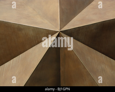 Closeup of star sculpture at Bob Bullock State History Museum Austin Texas - Stock Photo