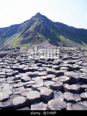 The Giant's Causeway, County Antrim, Northern Ireland, United Kingdom - Stock Photo