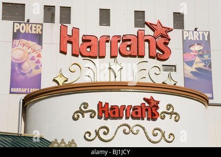 Harrah's Casino in downtown Reno, Nevada, USA - Stock Photo