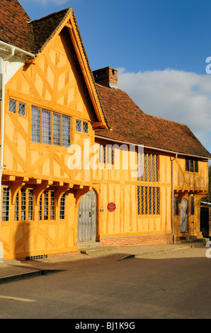 'Little Hall', a 14th Century timber-framed building in Lavenham, Suffolk, England. - Stock Photo