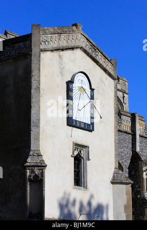 sun dial The Church of St. Mary the Virgin east bergholt suffolk england uk gb - Stock Photo