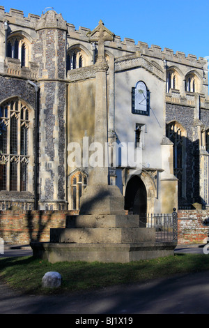 The Church of St. Mary the Virgin east bergholt suffolk england uk gb - Stock Photo