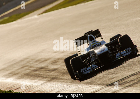 Pedro DE LA ROSA (ESP) in the BMW Sauber F1.09  during Formula 1 Tests in February 2010 - Stock Photo