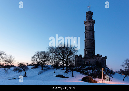 The Nelson Monument on Calton Hill, Edinburgh, Scotland, UK. - Stock Photo