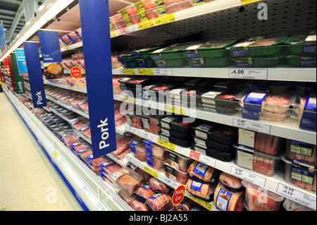 Pork on sale in Tesco - Stock Photo