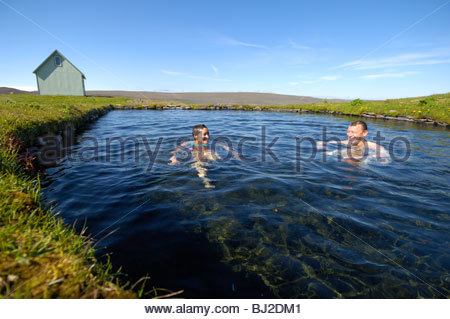 A Woman Bathes In The Natural Hot Water Mineral Baths Near The Pitons Stock Photo Royalty Free