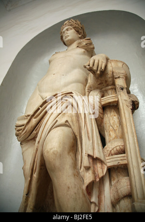 A 2nd Century AD statue of Apollo taken from Carthage in the Bardo Museum, in the capital city Tunis, Tunisia, North - Stock Photo