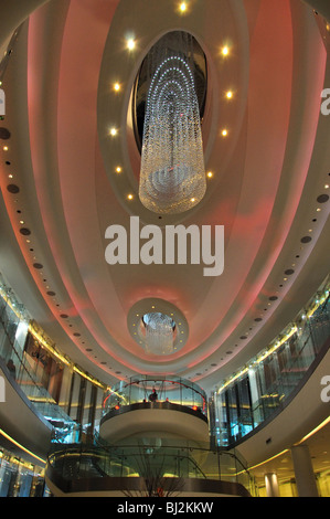 Interior atrium, Westfield Shopping Centre, Shepherd's Bush, London Borough of Hammersmith and Fulham, Greater London, - Stock Photo