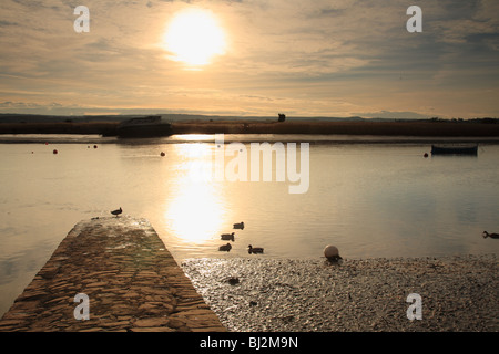 Estuary view at low tide from Topsham near Exeter, Devon - Stock Photo