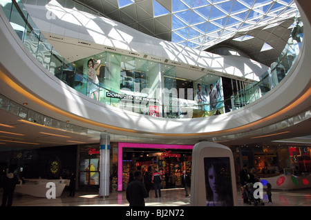 Interior view, Westfield Shopping Centre, Shepherd's Bush, London Borough of Hammersmith and Fulham, Greater London, - Stock Photo