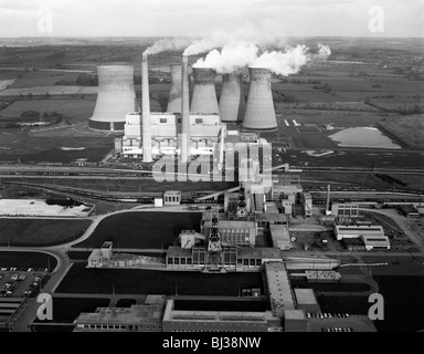 Lea Hall Colliery and Rugeley A Power Station, Staffordshire, 1963.  Artist: Michael Walters - Stock Photo