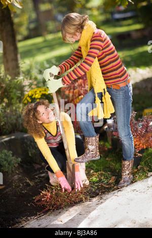 autumnal gardening - Stock Photo