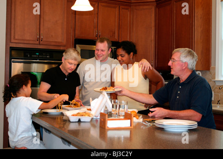 Family Dinner Party - Stock Photo