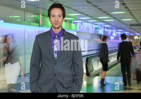 businessman at airport - Stock Photo