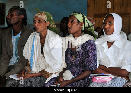 Adult education in a school, Rift Valley, Oromia, Ethiopia, Africa - Stock Photo