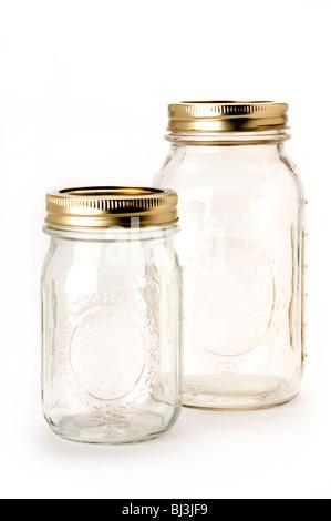 empty jars - Stock Photo