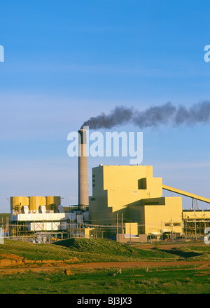 Wyodak Power Plant, a coal fired facility producing electricity for a five state area near Gillette, Wyoming, USA - Stock Photo