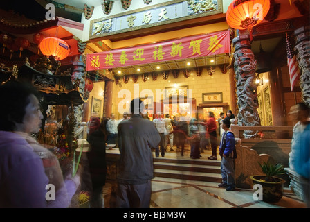 Thien Hau Temple, a Taoist Temple in Chinatown of Los Angeles. - Stock Photo