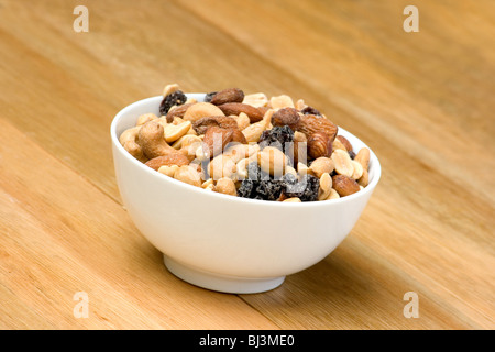 Mixed nuts in a bowl - Stock Photo