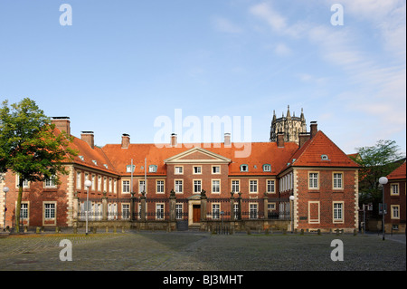 Bishop's court, Muenster, North Rhine-Westphalia, Germany, Europe - Stock Photo