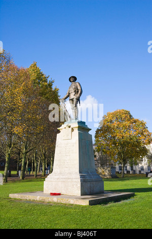 Kings Royal Rifle Corps war memorial in the grounds of Winchester Cathedral, Winchester, Hampshire, England, United - Stock Photo