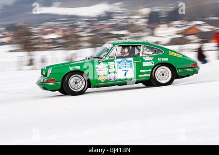 Porsche 911 2.0, built in 1965, classic cars winter race, Historic Ice Trophy 2010, Altenmarkt im Pongau, Salzburg, - Stock Photo