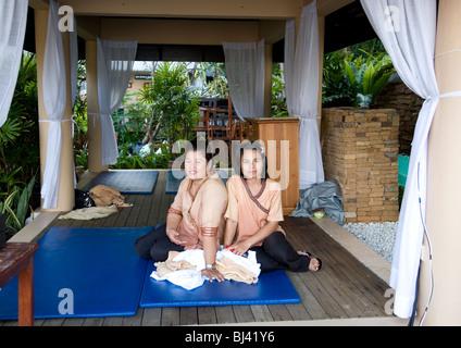 Two masseuse at Karon Beach Resort in Phuket - Thailand - Stock Photo