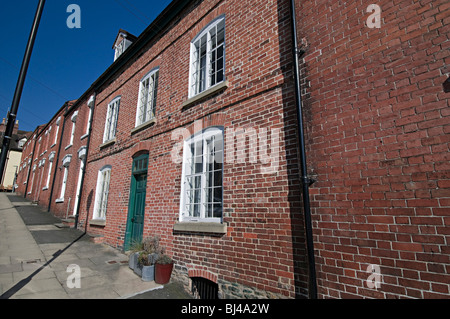 ludlow town shropshire terraced cottages in broad street ludlow - Stock Photo