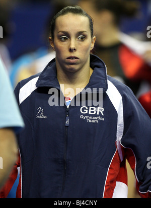 Elizabeth 'Beth' Tweddle walks out to compete in the 2010 World Gymnastics Championship where she won a Gold Medal - Stock Photo