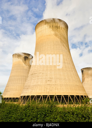 Cooling towers at Drax coal fired power station plant near Selby North Yorkshire England UK - Stock Photo