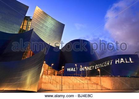 Walt Disney Concert Hall, Los Angeles, California, USA - Stock Photo