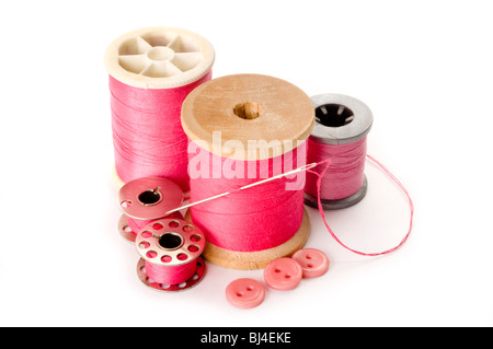 needle and thread - Stock Photo