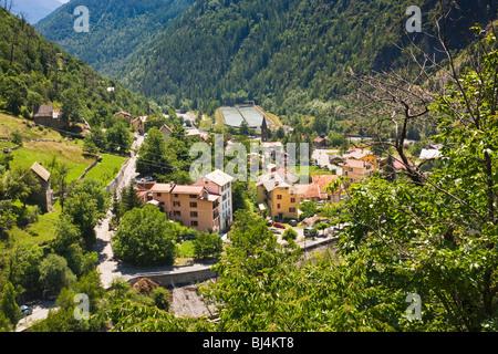 Isola village in the Parc National du Mercantour, Alpes Maritimes, Provence, France - Stock Photo