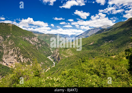 Mountain landscape in the Tinee Valley in the Alpes Maritimes, Mercantour National Park, Provence, France - Stock Photo