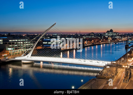 Evening over the River Liffey - Stock Photo