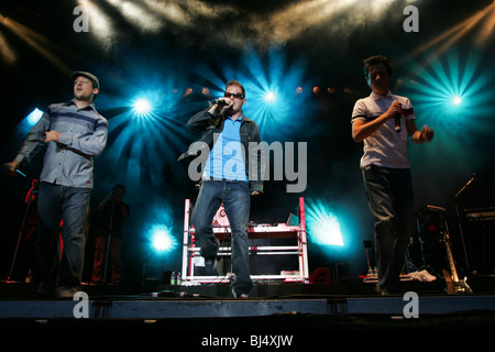 German Hip Hop band Fettes Brot Live at the Open Air in Ebikon, Lucerne, Switzerland - Stock Photo