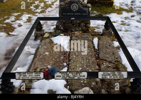 Rob Roy's Grave, Balquhidder's Parish Church, Scotland - Stock Photo