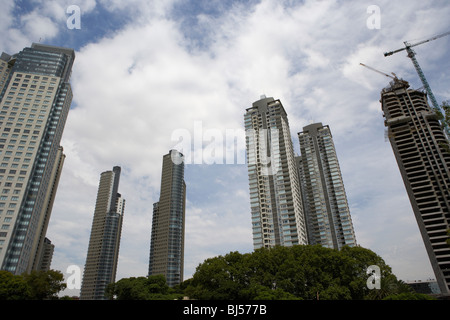 modern high rise apartment and office buildings including le parc mulieris towers in puerto madero capital federal - Stock Photo