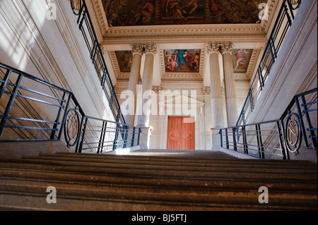 Paris, France, French Monuments, Museum, Interior, Main Staircase,  'Hotel de Soubise'