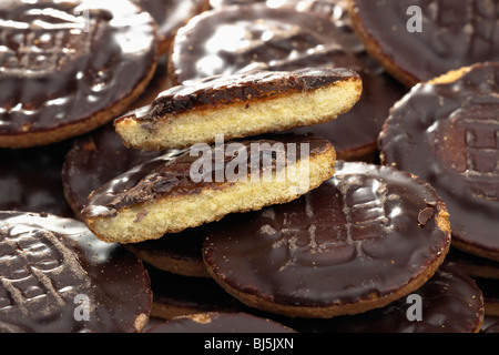 Pile of Jaffa cakes - Stock Photo