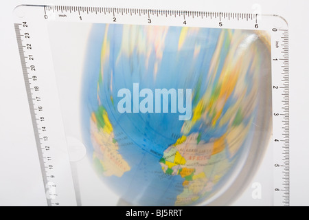 A distorted view of the world - Stock Photo