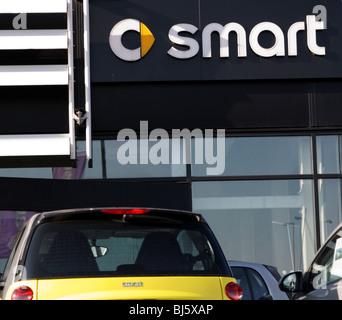 Smart car dealer, Birmingham, Great Britain, 2010 - Stock Photo