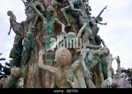 Miami holocaust memorial located at South Beach, Florida, USA - Stock Photo