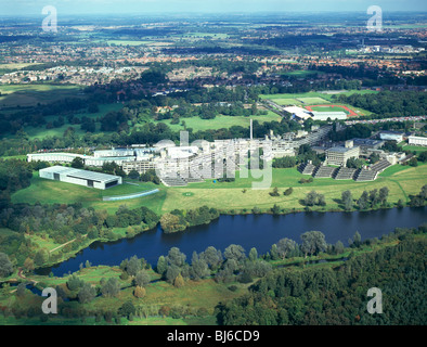 aerial view of university of east anglia, norwich, norfolk, england - Stock Photo