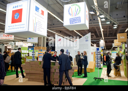 Paris, France, Businessmen Visiting Construction Equipment Trade Show, Ecological Education, French Government Information - Stock Photo