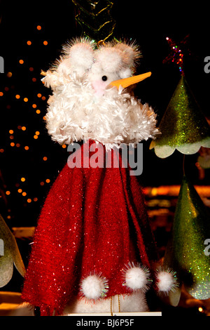 Fanciful Santa Claus Christmas tree ornament with carrot nose. St Paul Minnesota USA - Stock Photo