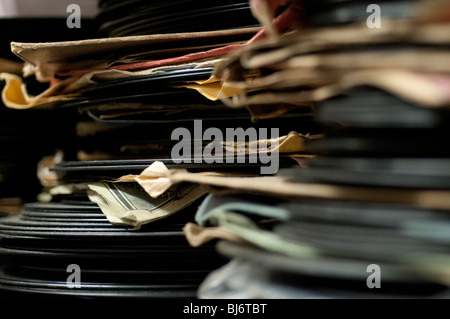 78 rpm records and sleeves - Stock Photo