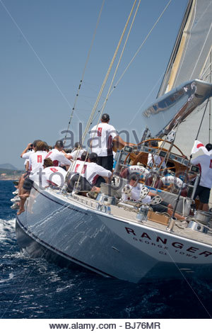 Ranger at The Super Yacht Cup, Palma de Mallorca, Spain - Stock Photo