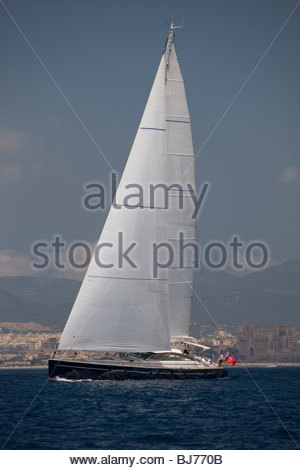 Ameena at The Super Yacht Cup, Palma de Mallorca, Spain - Stock Photo